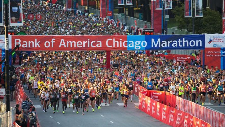 Guatemala se hizo presente en la Maratón de Chicago con una buena cantidad de corredores. (Foto: EFE)