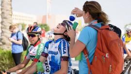 Nicolle logró completar la prueba de 134.5 kilómetros que se realizó en La Perla, Doha. (Foto: UCI)