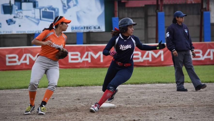 Partido de Usac vs Lanquetín, por el Torneo de Sóftbol Femenino| Octubre 2016