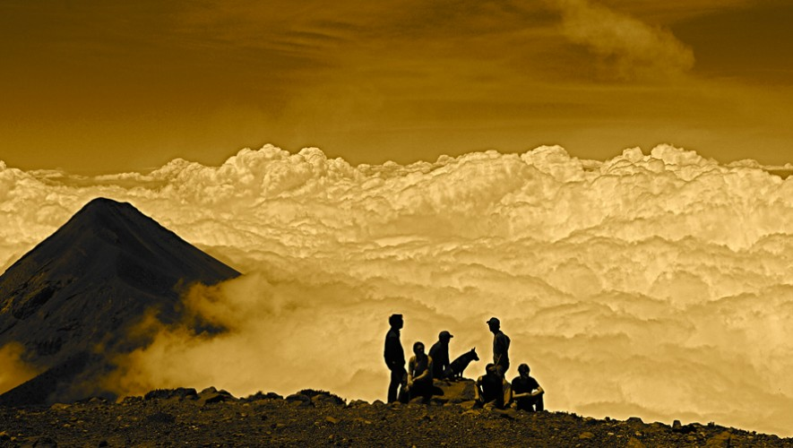 Ascenso nocturno al Volcán Acatenango   Noviembre 2016
