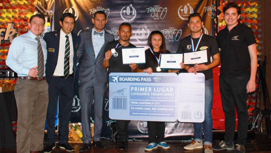 Ganadores de la categoría tradicional en la competencia  Copa Finest Call. (Foto: Cortesía Finest Call)