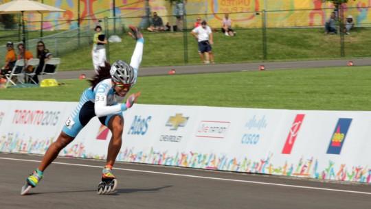 Dalia hará historia para el patinaje de Guatemala, al ser la primera representante en unos Juegos Mundiales. (Foto: COG)