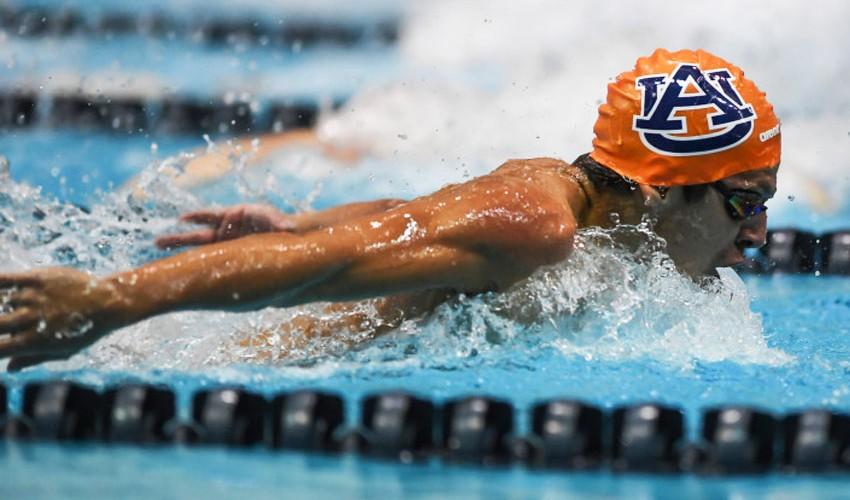 Luis Martínez cuenta con una gran temporada universitaria en Estados Unidos. (Foto: Auburn Swimming & Diving)