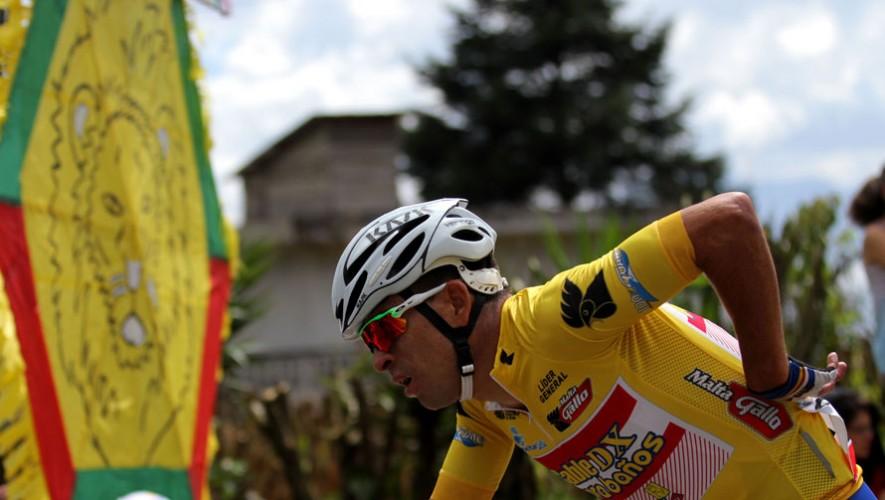 El ciclista quetzalteco fue líder durante tres etapas del evento más importante del ciclismo en Guatemala. (Foto: CDAG)