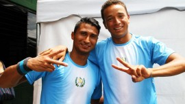 Ambos tenistas guatemaltecos tendrán su segunda aparición del año en un torneo de El Salvador. (Foto: Javier Herrera / Rackets & Golf)