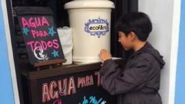 Habrá agua gratis para los peatones de Zona 4. (Foto: Ecofiltro)