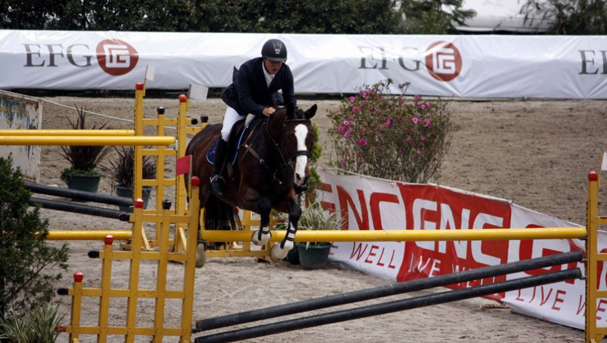 Tejada fue el primer guatemalteco en conseguir una medalla en la nueva temporada de ecuestre en Wellington. (Foto: Prensa ANEG)
