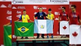 Anguiano ganó oro en la modalidad de individual y bronce en dobles. (Foto: COG)