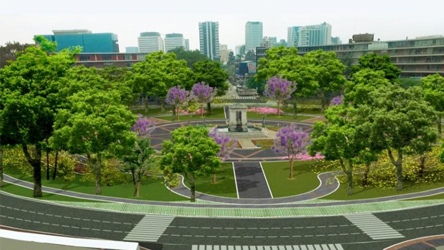 Así lucirá el nuevo espacio peatonal en la Plaza España. (Foto: Municipalidad de Guatemala)