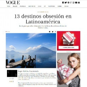 Revista Vogue, Lago Atitlán