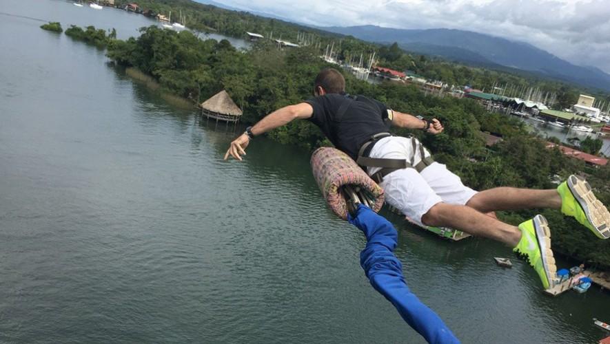 Salto en Bungee en Río Dulce Izabal | Diciembre 2016
