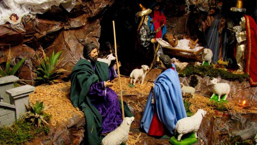 Visitarás diferentes nacimientos que se hicieron en Antigua Guatemala. (Foto: Roberto Urrea)