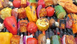 Parrillada Vegana en Restaurante Sangha en Antigua Guatemala