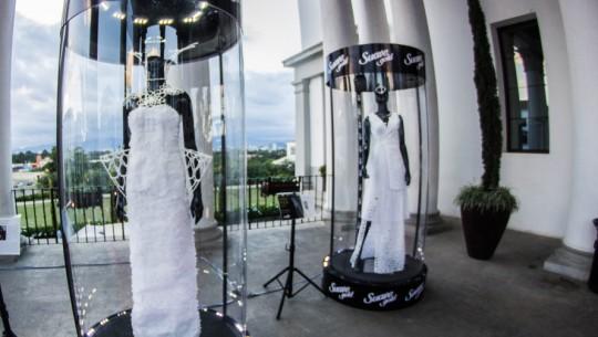 Diseñadores guatemaltecos elaboran vestidos con papel