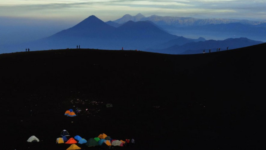 Ascenso nocturno al Volcán Acatenango   Diciembre 2016