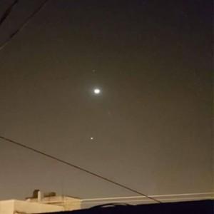 Alineación de la Luna, Venus y Marte