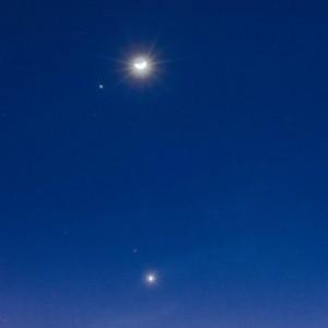 Conjunción Planetaria Luna, Marte y Venus 2017