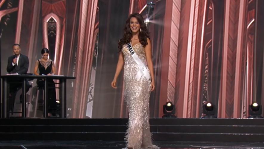 Así lució Virginia Argueta en la competencia preliminar de Miss Universo 2016. (Foto: Captura YouTube)
