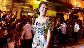 Virginia Argueta durante una pasarela en Vigan, Filipinas. (Foto: Rappler)