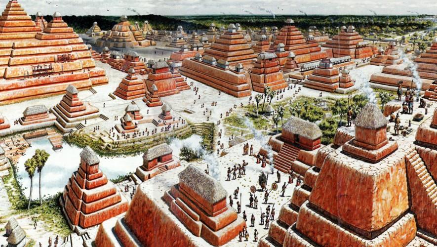 """""""Al contrario de los egipcios, los mayas construyeron pirámides agrupando pequeñas piedras que luego eran revestidas con estuco y pintadas de color rojo"""". (Foto: Fares)"""