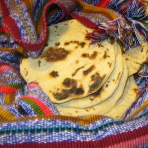 Tortillas blancas de Guatemala