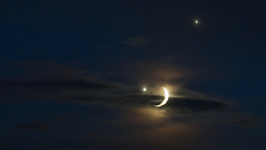 El 31 de enero de 2017 al atardecer podrás disfrutar de la conjunción astronómica de la Luna, Venus y Marte. (Foto: Día a Día/Fotografía con fines ilustrativos)