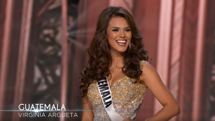 La guatemalteca Virginia Argueta fue elegida como una de las trece finalistas en Miss Universo 2016.(Foto: Captura YouTube)