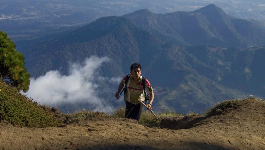 Carrera Reto de las Cruces en el Volcán de Agua   Enero 2017