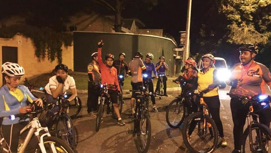 Colazo nocturno en bicicleta por Lobos Bike GT en la Ciudad | Enero 2017