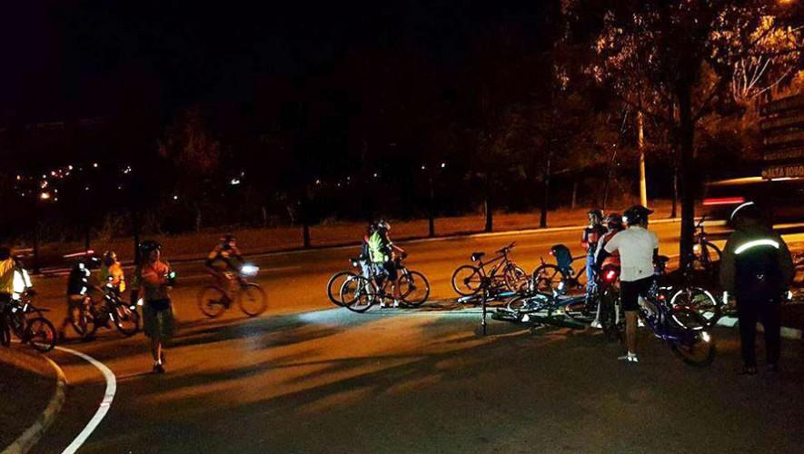 """Colazo nocturno en bicicleta """"Aullido de Lobo""""   Enero 2017"""