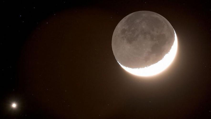 espectáculo astronómico Luna, Venus y Marte