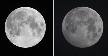 Luna con brillo normal y eclipse lunar penumbral. (Foto: El Confidencial)
