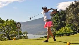 Valeria logró contabilizar  223 golpes para conseguir el segundo lugar de la categoría femenina. (Foto: Asogolf)