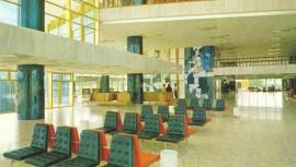 Así lucía el interior del Aeropuerto Internacional La Aurora. (Foto:  Fotos Antiguas de Guatemala)