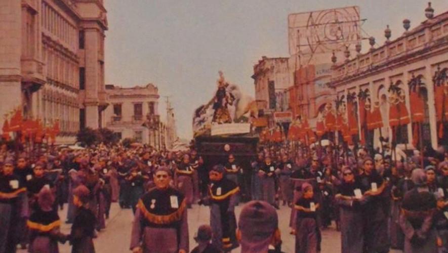 La primera procesión de Semana Santa en Guatemala