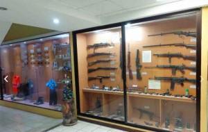 Armas en el Museo de la Policía Nacional Civil. (Foto: Dirección de Información Geográfica Municipal)