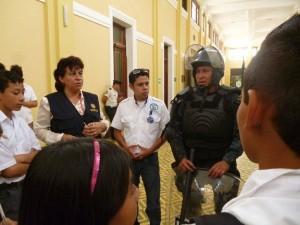 Visita al Museo de la Policía Nacional Civil. (Foto: Municipalidad de Villa Nueva)