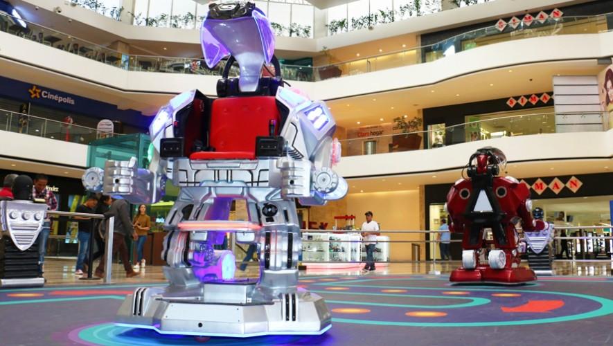 Así lucen los robots gigantes que podrás encontrar a partir del 16 de febrero en el Centro Comercial Miraflores. (Foto: Cortesía)