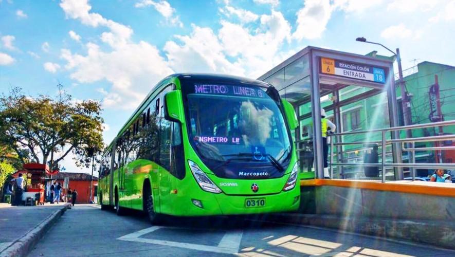 El servicio de Transmetro en Guatemala habilitó una nueva ruta en la ciudad. (Foto: Andre C. Mendez MJ)