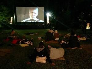 Cine en el jardín de la Vinoteca (Foto: Vinoteca)