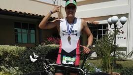 El triatleta guatemalteco Andrés Fonseca logró ganar su primera triatlón del año y que mejor que en territorio salvadoreño. (Foto: Coach Andrés, el Chino Fonseca)