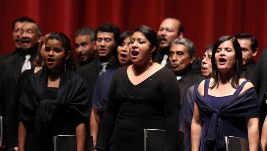 Concierto del Coro Nacional de Guatemala en Salón Social de la Colonia Nimajay, Mixco   Febrero 2017