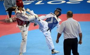entreno de taekwondo