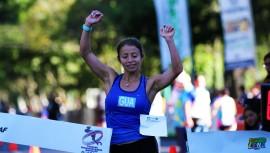Mayra Herrera logró quedarse con la prueba femenina de la categoría mayor, superando a su compatriota, Maritza Poncio. (Foto: COG)