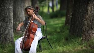 Proyección al aire libre de concierto de música clásica en el jardín de la Alianza Francesa | Febrero 2017