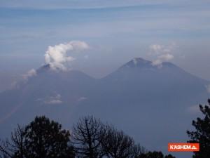 vista del volcan de agua