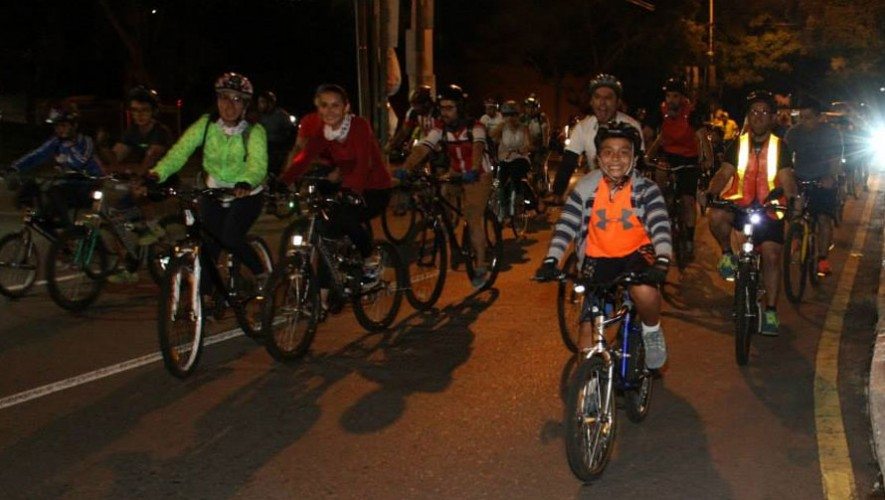 Bicitour Nocturno de la Municipalidad de Guatemala   Junio 2017