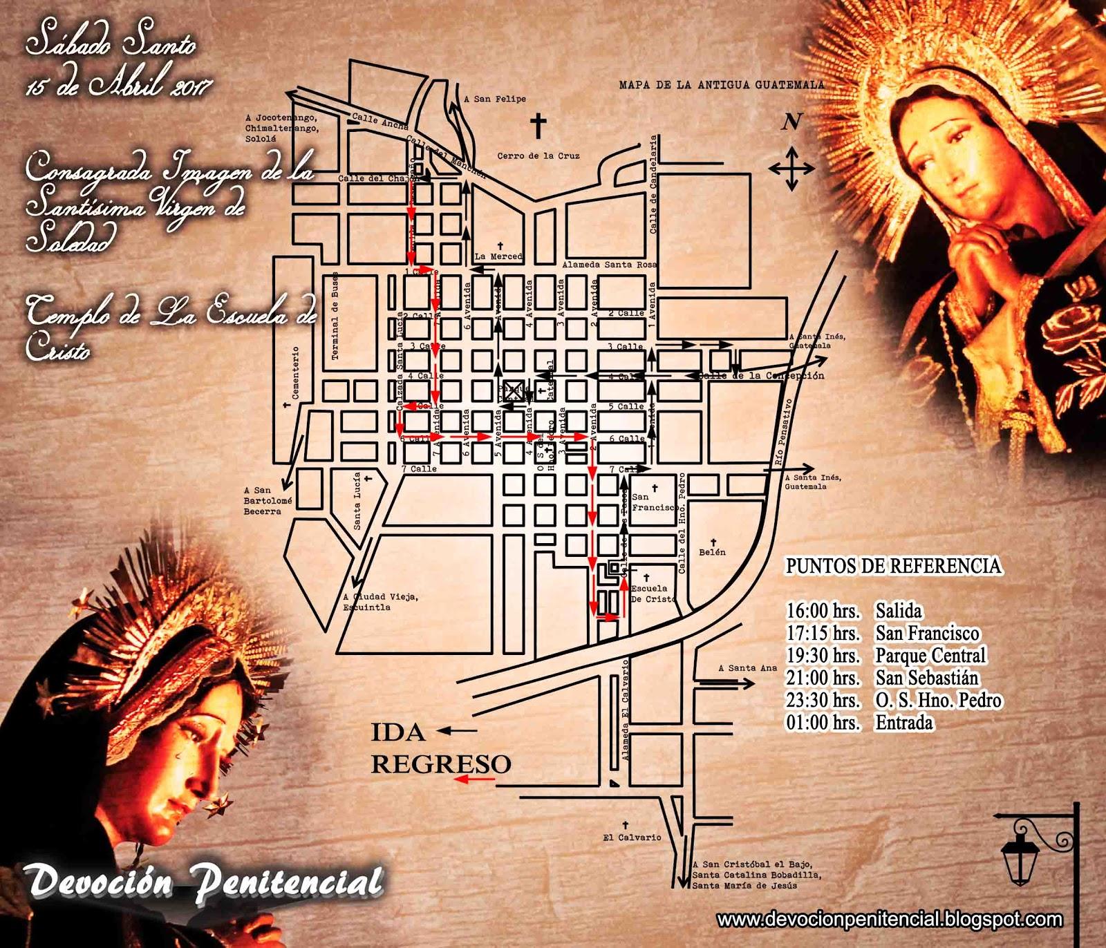 Consagrada Imagen de la Santísima Virgen de Soledad, Templo de la Escuela de Cristo