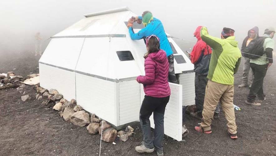 Construyen el primer refugio en el Volcán Acatenango