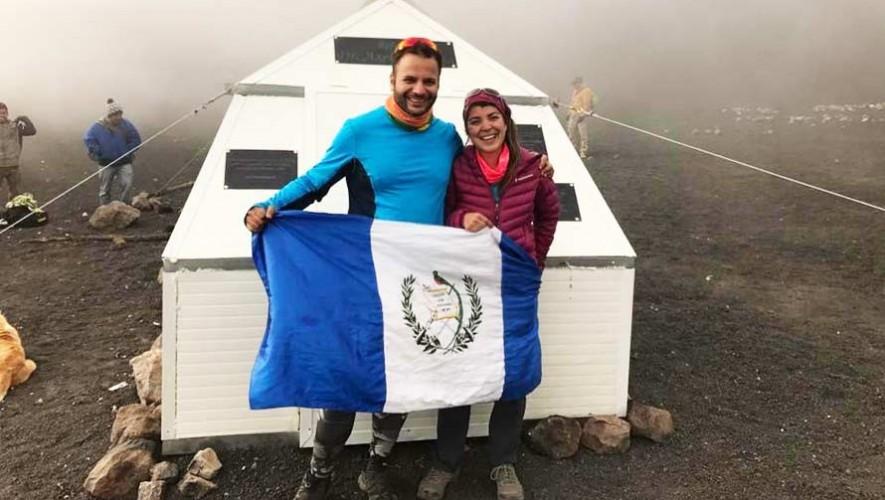 Construyen el primer refugio en la cima del Volcán Acatenango